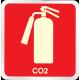 Placa de sinalização Extintores Gás Carbônico
