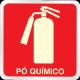 Placa de sinalização Extintor Pó químico